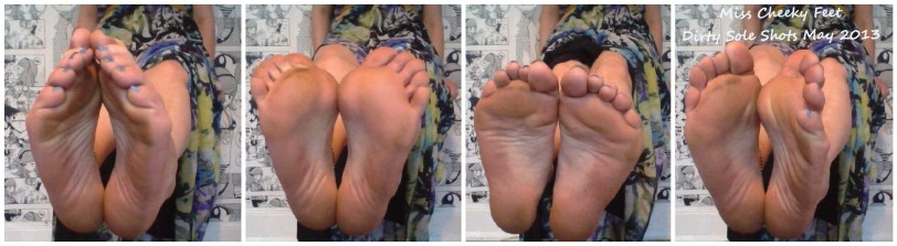 I got my soles hot & dirty on a recent day out in sandals. Here's me sticking these in your face!