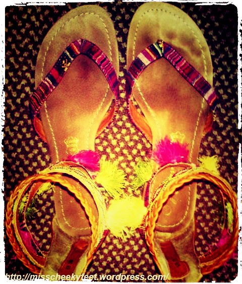 My funky sandals.
