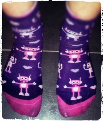 My hot sweaty robot socks!
