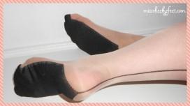 Nylon soles lying down