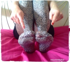Toe Scrunching - Leopard Tights