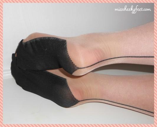 Sheer seamer stockings