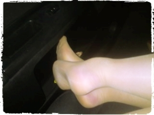 Nylons feet, reinforced toe, pantyhose, tights, glossy tights