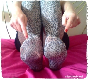 Leopard print tights - Toe Pointing