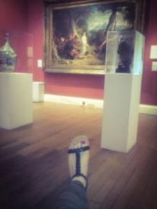 feet art, painting, Usher Gallery, black sandals