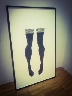 black stockings, stockings art, stockings painting, The Collection