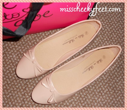 Cute ballet pumps to match my sparkly dress, thanks slave :).