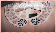 Peter pan collar embellished with sequins & pearls