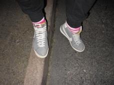 Nikes & Pink Socks